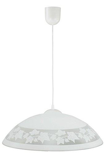 Pendelleuchte Weiß gemustert Schale Küchenlampe Innenlampe Hängeleuchte Hängelampe Pendellampe