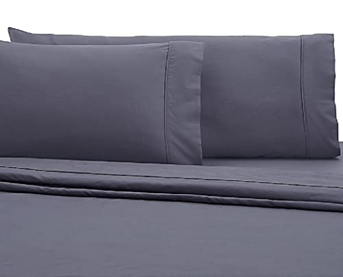 Wamsutta 350-Thread-Count Egyptian Cotton Standard Pillowcases in Blue Jean (Set of 2)