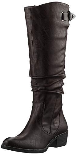 MARCO TOZZI Damen 2-2-25524-25 Langschaftstiefel Kniehohe Stiefel, BLACK ANTIC, 39 EU