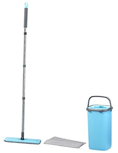 AtomiClean Wischsystem: Kompaktes Bodenwisch-System, 2-Kammer-Eimer, 4-tlg. Griff, bis 130 cm (2-Kammer-Boden-Wischsystem)