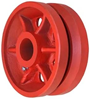 CasterHQ 4 X 1-1//2 V Groove Wheel 350 lbs Capacity Replacement Wheel Commercial//Industrial Application Includes 3//4 Roller Bearing with 1//2 ID Spanner Bushing Bore 1//2