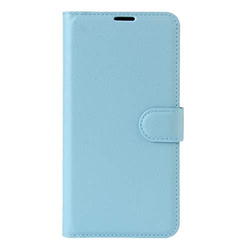BEIJING  PROTECTIVECOVER+ / for LG X Power2 Litchi Texture Horizontal Flip Funda de Cuero con Soporte y Ranuras Tarjetas y Billetera, Fashion Phone Funda para Protector (Color : Azul)