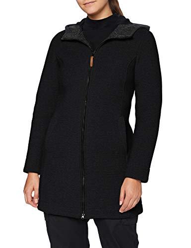 CMP Damen Parka in lana con cappuccio fix Jacke, Carbone Mel.-NERO, 38