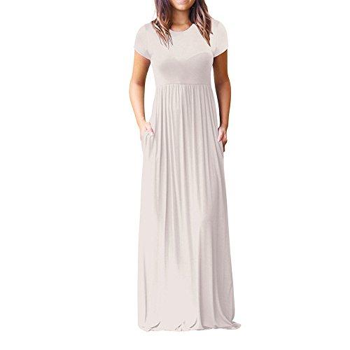 Vestidos Largo Muje Elegante Fiesta Vestidos Vestido de Cóctel Vestido de Noche Vestido Moda Vestidos Largo Sexys Vestidos Manga Corta Vestido un Hombro Vestido Playa Mujer vpass
