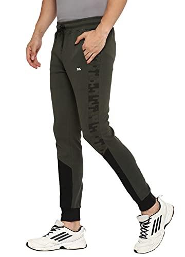 Alan Jones Clothing Men's Color Block Joggers Track Pants