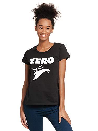Pesadilla Antes De Navidad Zero Mujer Camiseta Negro XXL, 100% algodón, Regular