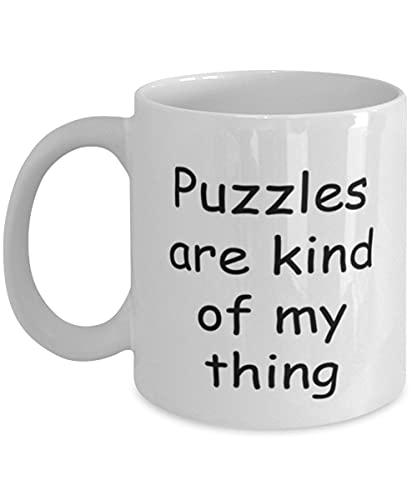 Puzzles Coffee Mug Puzzles Kind Of My Thing, Taza, Taza, Coleccionismo, Amante, Día de San Valentín