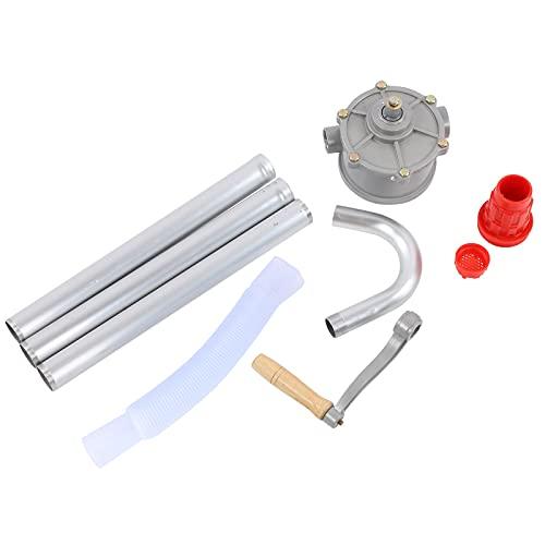 Crank Pump, Rotary Hand Crank Oil Barrel Drum Pump Aluminum Alloy Pumping Aluminum Alloy Petrol Diesel Fuel Lubrication and More 29L/min