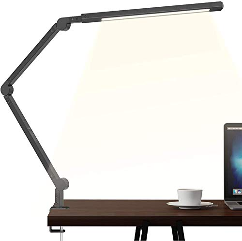 Swing Arm Lamp, LED Desk Lamp with Clamp, 9W Eye-Care...