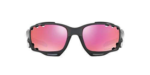 Oakley Herren Racing Jacket 917138 62 Sonnenbrille, Schwarz (Carbon/Prizmtrail)