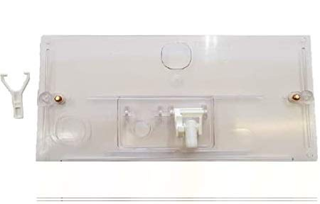 Geberit 123.001.11.1 Plaque de chasse pour réservoir WC extérieure avec tube