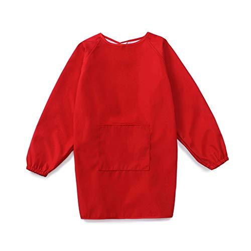 Liutao Schort kinderen kunstenaar doek schort ademend waterdicht blouse met lange mouwen schilderen groot kinderschort duurzaam schort