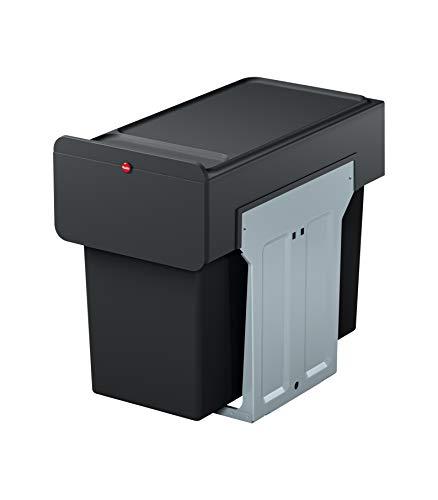HAILO Einbau-Mülleimer: Mülltrennung für Küchen-Unterschrank | Duo-Trennsystem 2x14 Liter mit Vollauszug | Montage in wenigen Sekunden | EcoLine Design L