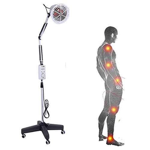 Yuanoo Lámpara de Terapia de Calefacción Infrarroja con Soporte Brazo Flexible para la Termohaperia Tratamiento de Belleza Analgesia Antiinflamatoria Alivie el Dolor Muscular, 150W/100W
