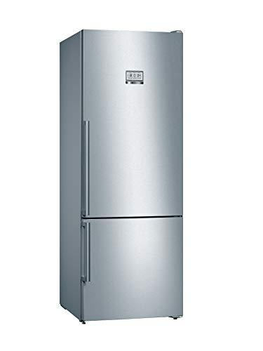 Bosch Hausgeräte KGF56PICP Serie 8 frigorifero freezer, formato XXL, 193 x 70 cm, 184 kWh anno, Inox-antifingerprint, 375 l, congelatore da 108 l, NoFrost VitaFresh pro