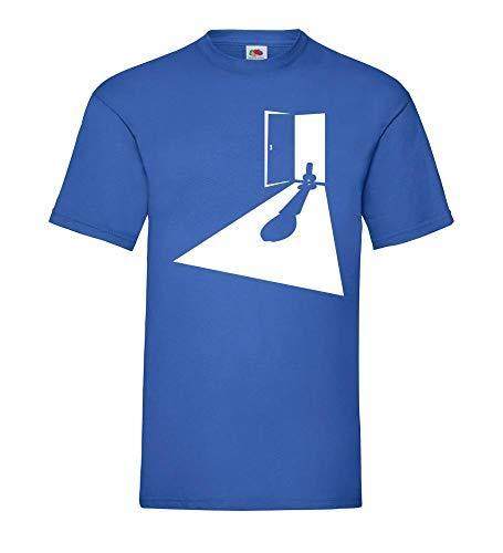 Penis Türrahmen Männer T-Shirt Royal Blau M - shirt84.de