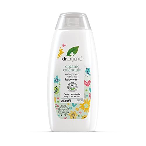 Dr. Organic Caléndula Baby – Limpiador 2 en 1 para cuerpo y cabello – Dedicado a la limpieza de la piel delicada de los más pequeños – 200 g