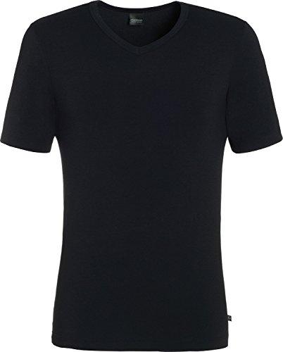 Schiesser Herren Shirt 1/2 Arm Unterhemd, Schwarz (000), 6