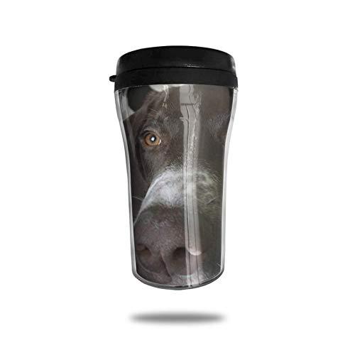 Taza de café de viaje con impresión 3D, taza de té aislada, taza de agua, taza de viaje para hombres, mujeres y niños, cachorro alemán