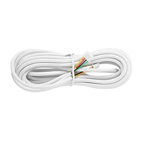 DAUERHAFT Cable de 4 Hilos, 30 m, 0,3 mm², Redondo, Suave, Resistente, de Buen Rendimiento, para videoportero, para intercomunicación con videoteléfono