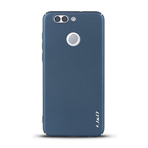 J&D Kompatibel für Huawei Nova 2 Plus Hülle, [Ultra Dünn] [Lightweight] erstklassige Matte schützende Hardcase für Huawei Nova 2 Plus - Dunkelblau - 2