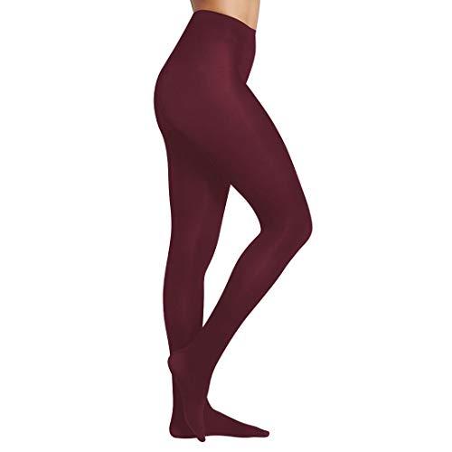 YSABEL MORA 1157-16838-GRANATE-L - Panty Piel Melocoton Mujer Color: Granate Talla: Large