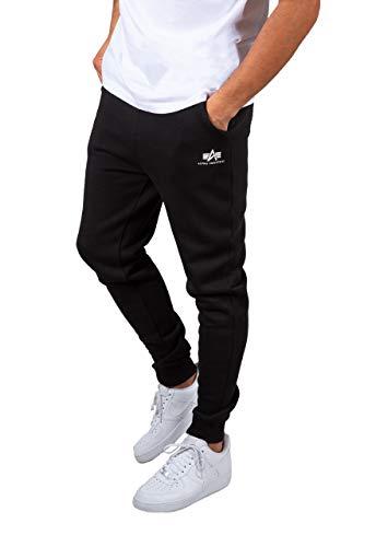 ALPHA INDUSTRIES Herren Jogginghose Basic Small Logo Black (L)