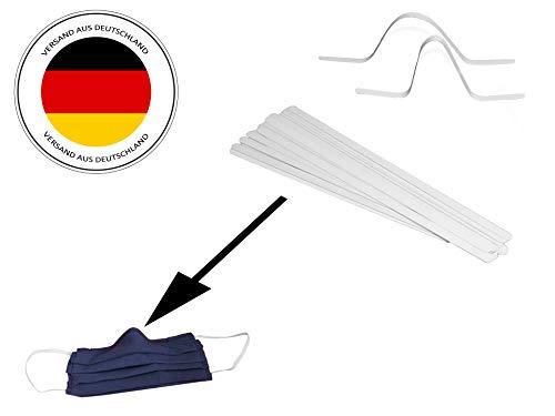 Kitchen Helpis® 25 Hochwertige Nasenbügel für selbstgenähte Atemschutzmasken – Versand aus D – Nasenclips, Metallbügel für sicheren Halt des DIY Mund- und Nasenschutzes, Nasenbrücken-Streifen