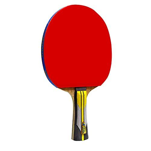 LINGOSHUN Raquetas de Tenis de Mesa Ofensiva,Profesional Raquetas de Tenis de Mesa con goma aprobada por la ITTF,para Intermedios y Aficionados / 6 Stars/Long handle