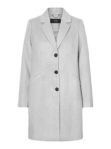 Vero Moda VMCALACINDY AW20 3/4 Jacket Boos Abrigo, gris claro, M para Mujer
