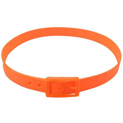 Katigan CinturóN de Silicona para Hombres Hebilla de Goma de PláStico Estilo de Cuero Liso Ajustable-Naranja