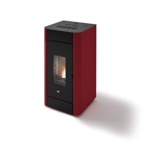 Eva Calor Estufa de pellets Hydro Frida 13 13 kW ventilada roja - 901670600