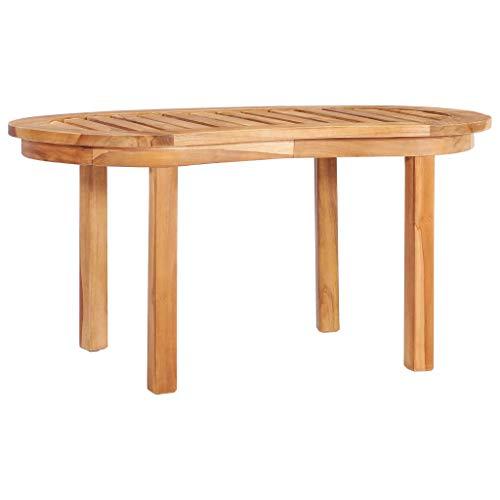 vidaXL Bois de Teck Solide Table Basse Table d'Appoint Table de Salon Bout de Canapé Table de Canapé Maison Intérieur Jardin Extérieur 90x50x45 cm