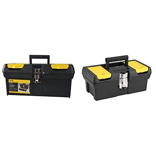 STANLEY 1-92-065 - Caja de herramientas Milenium, 19.9 x 19.5 x 40.5 cm + 1-92-064 Caja de herramientas millenium con cierres metálicos, 32cm
