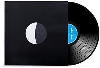 xi-media ®, 100 stuks, 12 inch, geluidsplaten, LP, vinyl, binnenhoezen, gevoerd, antistatisch, zwart, 80 g/m², 100 stuks