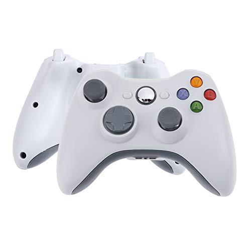 Demiawaking Demiawaking Game Controller Console di Giochi Gamepad Joypad gioco Maniglia controllo 2.4GHz Wireless Bluetooth senza fili RF per Xbox 360 o PC (bianco)