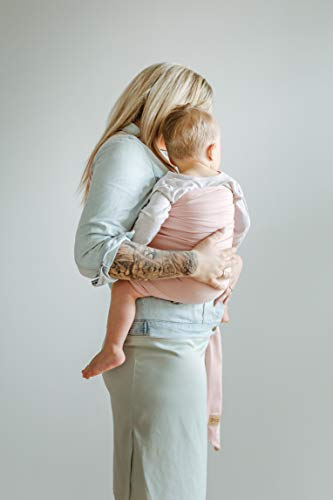 Shabany® – Ring Sling Tragetuch – 100% Bio Baumwolle – Für Neugeborene Kleinkinder bis 15 KG – inkl. Baby Wrap Carrier Anleitung – rosa (cuddles) - 3