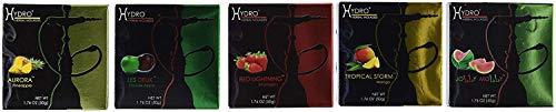 250g, 5 Mix: Apple, Strawberry, Mango, Peach & Pineapple, Hookah Shisha Tobacco Free Molasses