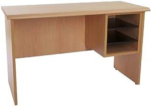 Mahmayi Metal/Glass Bess Side Extension Unit Desk, BG103, Belgian Beech, H64 x W45 x D103 cm