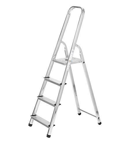 packer PRO Escaleras Plegables Aluminio de Tijera Super Resistente hasta 150Kg, Acero...