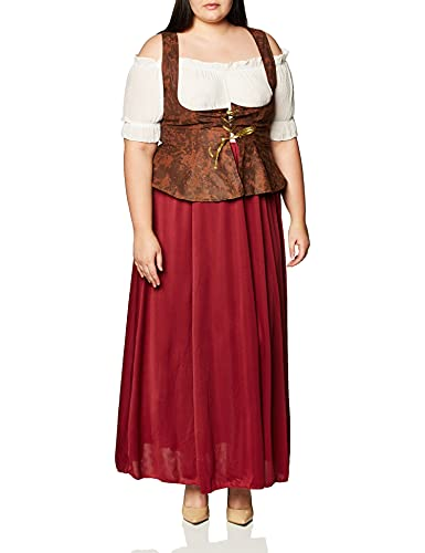 Franco Peasant Lady Womens Medieval Halloween Costume Large