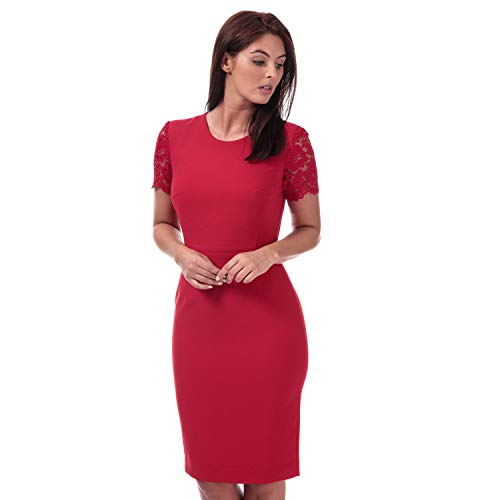 Franse verbinding Womens Whisper Ruth Bodycon jurk in Blazer rood