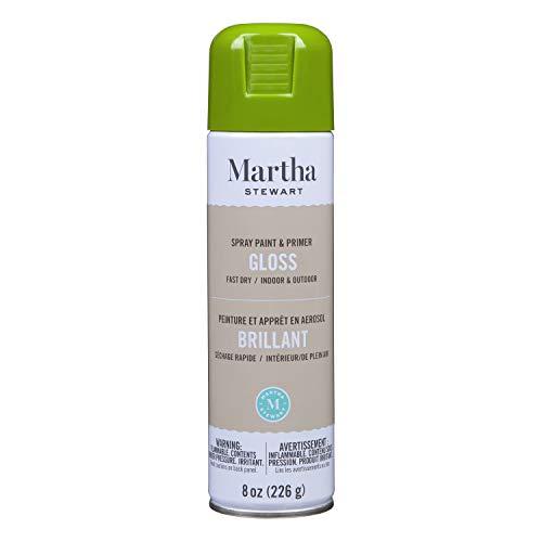 Martha Stewart Paint & Primer 8oz Spray Paint, Gloss Green Olive 8 Fl Oz