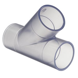 Spears 475-L Series PVC Pipe Fitting, Wye, Schedule 40, Clear (1-1/2')