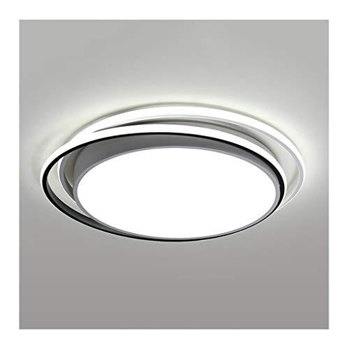 GPZ-iluminación de techo Luz de techo - Lámparas de techo LED regulables, Morden Arte redondo simple de hierro acrílico, Decoración de sala de estar Dormitorio Estudio Hotel Iluminación de oficina [Cl