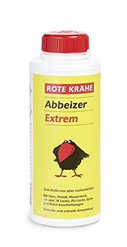 ADLER Abbeizer Rote Krähe extrem - 750ml - Hochwirksamer Lack Entferner für Holz, Metall, Stein und Beton - Einfache Anwendung