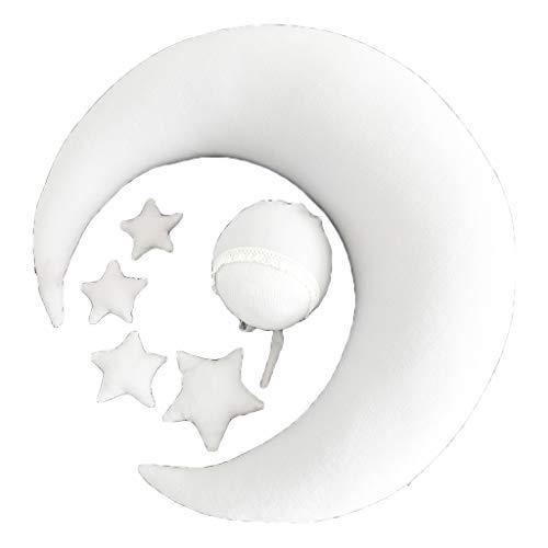 Geneic Baby Hat Posando Frijoles Luna Almohada Estrellas Set Recién Nacido Fotografía Apoyos Bebés Foto Accesorios