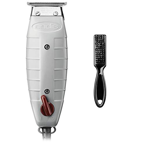 Andis Professional T-Outliner Beard/Hair Trimmer with T-Blade, Gray, Model GTO (04710) with a Maintenance Blade Brush