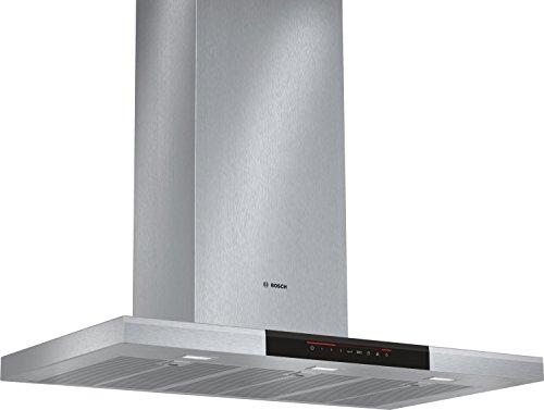 Bosch DWB098J50 - Campana (Canalizado/Recirculación, 860 m³/h, A, Montado en pared, LED, 897 Lux) Acero inoxidable