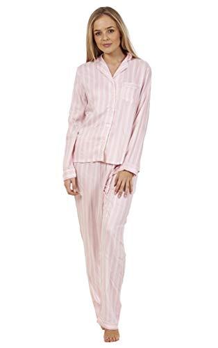 Conjunto Pijama Botones Mujer   Manga Larga   Tejido